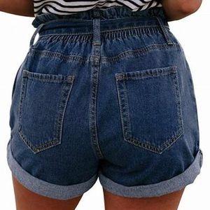 Wishlist size small paper bag jean shorts